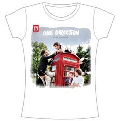 One Direction Ladies Tee: Take Me Home Rough Edges with Skinny Fitting