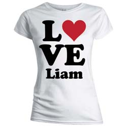 One Direction Ladies Tee: Love Liam (Skinny Fit)