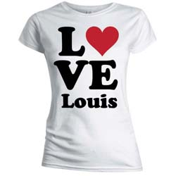 One Direction Ladies Tee: Love Louis (Skinny Fit)