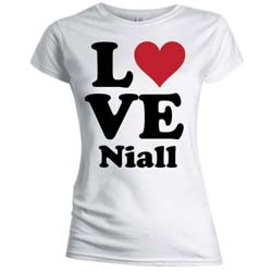 One Direction Ladies Tee: Love Niall (Skinny Fit)
