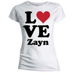One Direction Ladies Tee: Love Zayn (Skinny Fit)