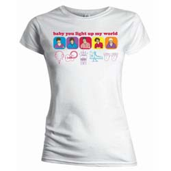 One Direction Ladies Tee: Line Drawing (Skinny Fit)