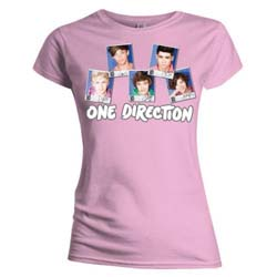 One Direction Ladies Tee: Polaroid (Skinny Fit)