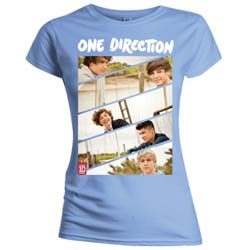 One Direction Kid's Tee: Band Sliced (Slim Fitting)