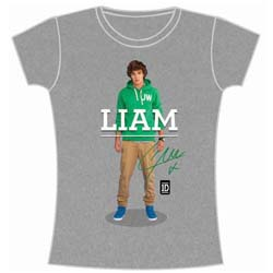 One Direction Ladies Tee: Liam Standing Pose (Skinny Fit)