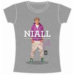One Direction Ladies Tee: Niall Standing Pose (Skinny Fit)