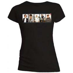 One Direction Ladies Tee: Photo Split (Skinny Fit)