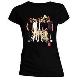 One Direction Ladies Tee: Flowers (Skinny Fit)