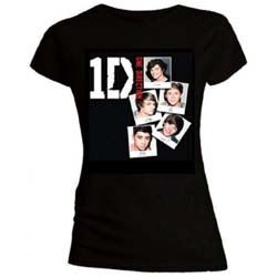 One Direction Ladies Tee: Photo Stack (Skinny Fit)