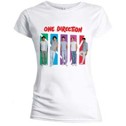 One Direction Ladies Tee: Colour Arches (Skinny Fit)