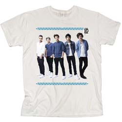 One Direction Ladies Tee: College Wreath (Skinny Fit)