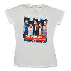 One Direction Ladies Tee: Midnight Memories Strips (Skinny Fit)
