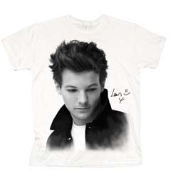 One Direction Ladies Tee: Louis Solo B&W
