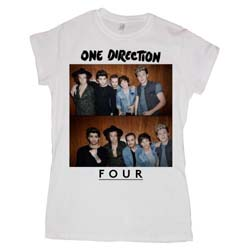 One Direction Ladies Tee: Four (Skinny Fit)