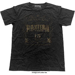 Pantera Unisex Fashion Tee: 101% Proof (Vintage Finish)