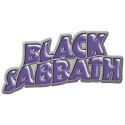 Black Sabbath Pin Badge: Purple Logo