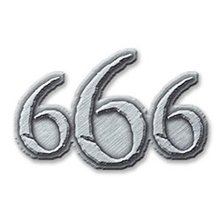 Generic Pin Badge: 666 (Retail Pack)