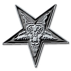 Generic Pin Badge: Pentagram (Retail Pack)