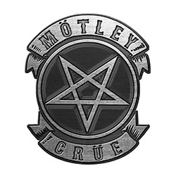 Motley Crue Pin Badge: Pentagram (Retail Pack)