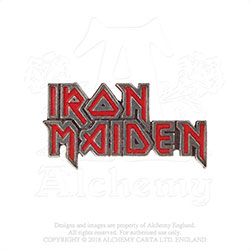 Iron Maiden Pin Badge: Enamelled Logo
