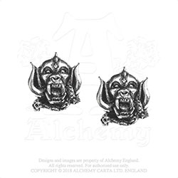 Motorhead Stud Earrings: War Pig
