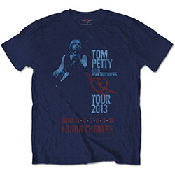 Tom Petty & The Heartbreakers Unisex Tee: Fonda Theatre (Soft Hand Inks)