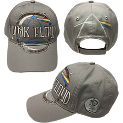 Pink Floyd Baseball Cap: Dark Side of the Moon Album Distressed (Grey)