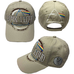 Pink Floyd Baseball Cap: Dark Side of the Moon Album Distressed (Sand)