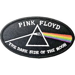 Pink Floyd Standard Patch: Dark Side of the Moon Oval Black Border