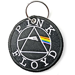 Pink Floyd Keychain: Circle Logo (Double Sided Patch)