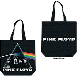 Pink Floyd Cotton Tote Bag: Dark Side of the Moon (with zip top)