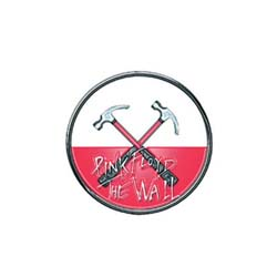Pink Floyd Pin Badge: The Wall Hammers Logo