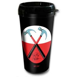 Pink Floyd Travel Mug: The Wall Hammers Logo (Plastic Body)
