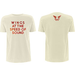 Paul McCartney Men's Tee: Wings at the Speed of Sound (Back Print)