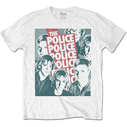 The Police Unisex Tee: Half-tone Faces
