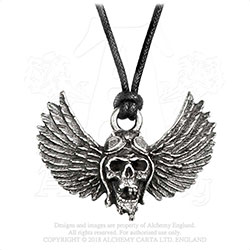 Airbourne Pendant: Winged Skull