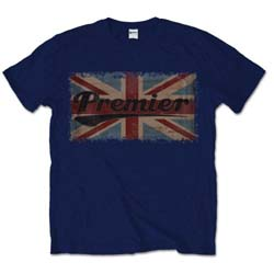 Premier Drums Men's Tee: Vintage Flag