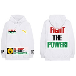 Public Enemy Unisex Pullover Hoodie: Fight The Power (Back Print)