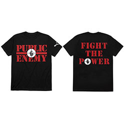 Public Enemy Unisex Tee: Fight The Power (Back Print)