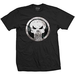 Marvel Comics Unisex Tee: Punisher Metal Badge