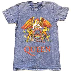 Queen Unisex Tee: Classic Crest (Burn Out)