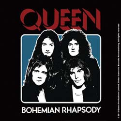 Queen Single Cork Coaster: Bo Rhap