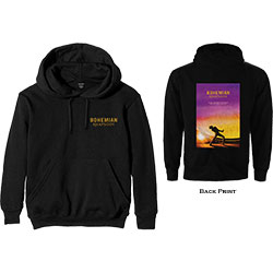 Queen Unisex Pullover Hoodie: Bohemian Rhapsody Movie Poster (Back Print)