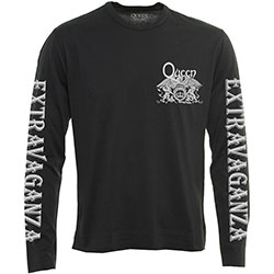 Queen Unisex Long Sleeved Tee: Extravaganza (Arm Print)