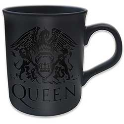 Queen Boxed Premium Mug: Crest with Black Matt Finish