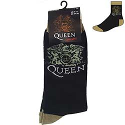 Queen Unisex Ankle Socks: Crest (UK Size 7 - 11)