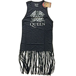 Queen Ladies Tee Dress: Crest Vintage with Tassels