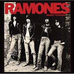 Ramones Single Cork Coaster: Rocket to Russia