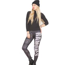 Ramones Ladies Fashion Leggings: Presidential Seal