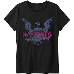 Ramones Unisex Tee: Purple Eagle